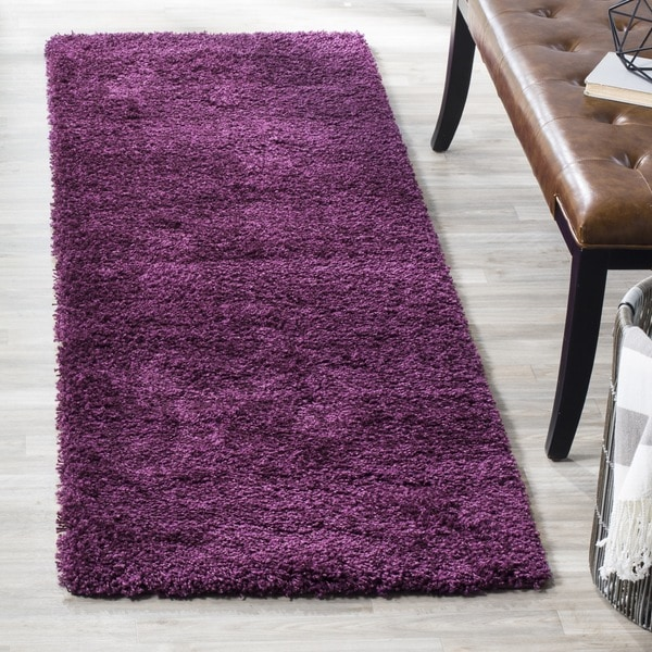 Safavieh California Cozy Solid Purple Shag Rug (2'3 x 7')