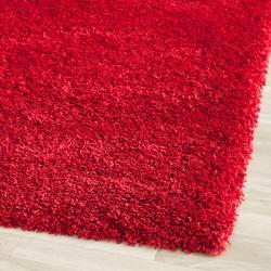 Safavieh California Cozy Solid Red Shag Rug (2'3 x 7')