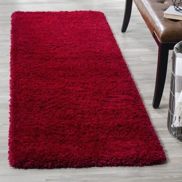 Safavieh California Cozy Plush Red Shag Rug (2'3 x 7')