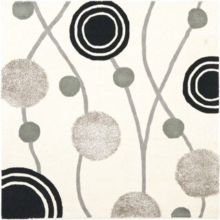 Safavieh Handmade New Zealand Wool Galaxy Beige/ Grey Rug (6' Square)