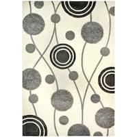 """Safavieh Handmade New Zealand Wool Galaxy Beige/ Grey Rug - 3'6"""" x 5'6"""""""