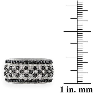 DB Designs Rhodium-plated 1/4ct TDW Diamond Eternity Band