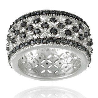 DB Designs Rhodium-plated 1/4ct TDW Diamond Eternity Band (More options available)