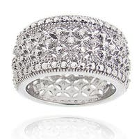 DB Designs Rhodium-plated 1/4ct TDW Diamond Eternity Band