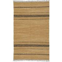 Hand-woven Matador Tan Leather Rug (9' x 12') - 9' x 12'