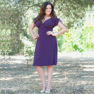 Kiyonna Women's 'Jemma' Ruched Dress
