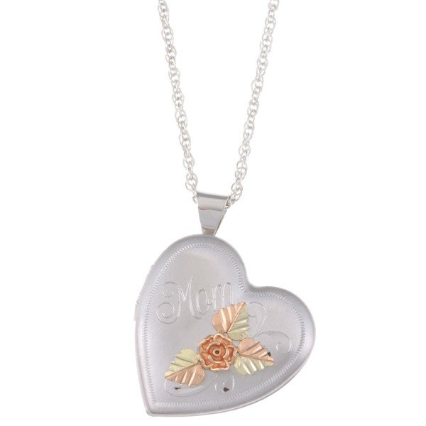 Black Hills Gold and Silver MOM Locket Necklace