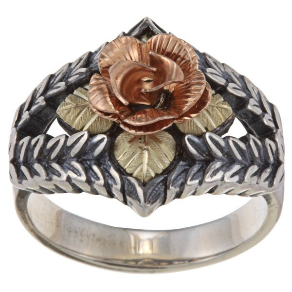 Black Hills 12k Gold and Sterling Silver Dakota Rose Ring