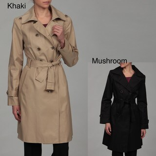 Anne Klein Women's Double Breasted Belted Trench Coat