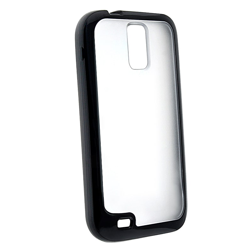 Clear with Black Trim TPU Skin Case for Samsung Galaxy S II T989
