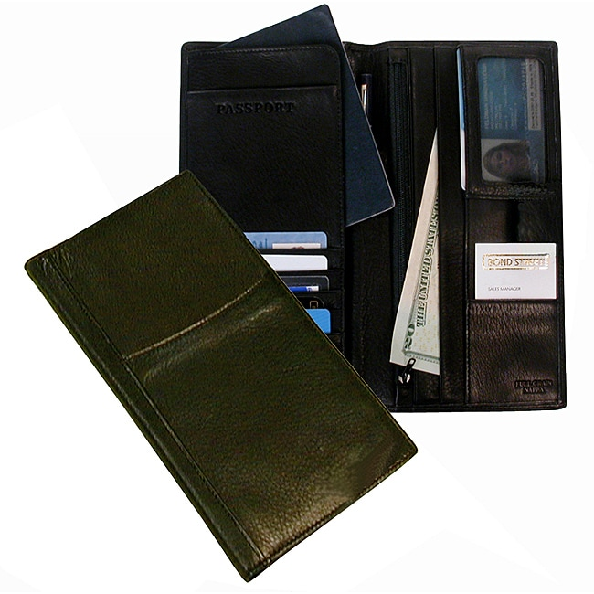 Men's Black Executive Travel Organizer Wallet