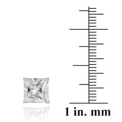 Icz Stonez Rhodiumplated Cubic Zirconia Stud Earrings (Set of 5) (24 7/8ct TGW) - Thumbnail 2