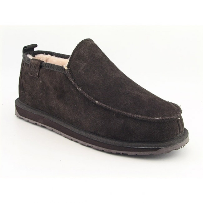 30941fc00e8 Shop Emu Australia Men's 'Bubba' Brown Slippers - Free Shipping Today -  Overstock - 6347683