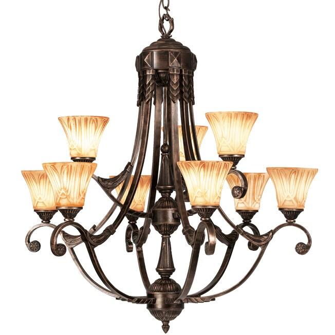 Woodbridge Lighting Sebastian 9-light Tuscan Bronze Chandelier