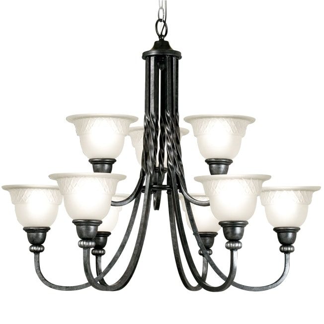 Woodbridge Lighting Amelia 9-light Charcoal Chandelier