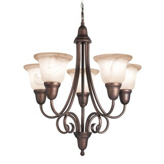 Woodbridge Lighting Hudson Glen 5-light Marbled Bronze Chandelier