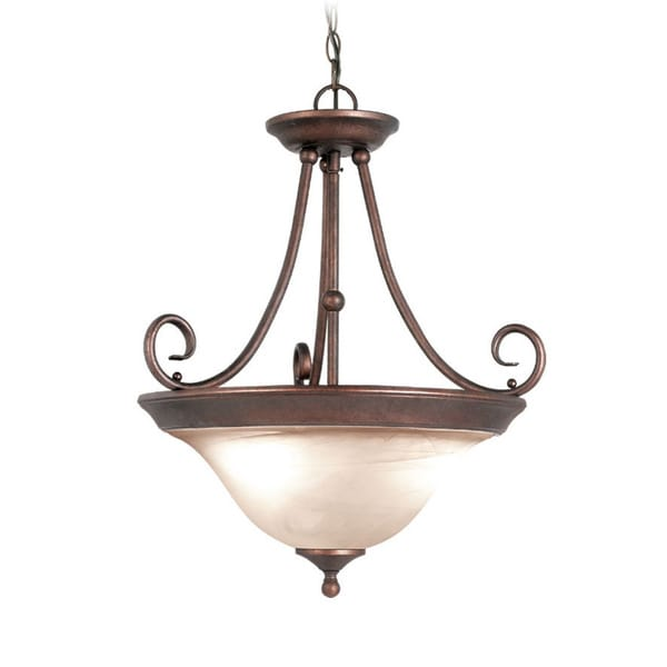Woodbridge Lighting Hudson Glen 3-light Marbled Bronze Pendant