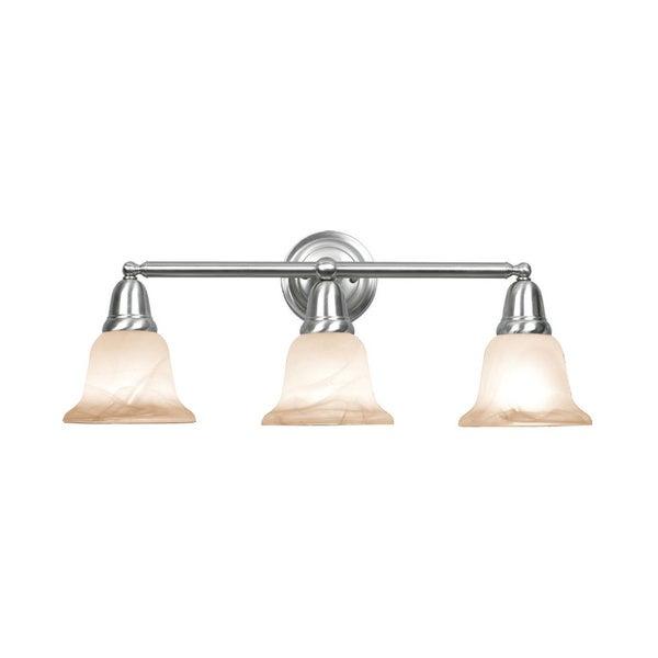 Shop Woodbridge Lighting Hudson Glen 3 Light Satin Nickel
