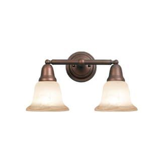 Woodbridge Lighting Hudson Glen 2-light Marbled Bronze Bath Bar