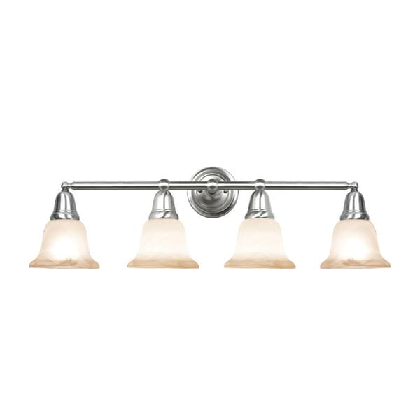 Woodbridge Lighting Hudson Glen 4-light Satin Nickel Bath Bar