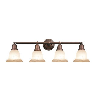 Woodbridge Lighting Hudson Glen 4-light Marbled Bronze Bath Bar