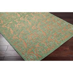 Woven Portera Indoor/Outdoor Floral Rug (7'10 x 10'8) - Thumbnail 1