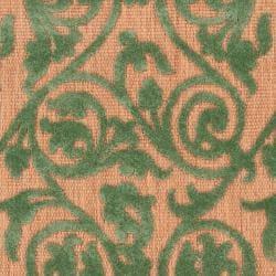 Woven Portera Indoor/Outdoor Floral Rug (7'10 x 10'8) - Thumbnail 2