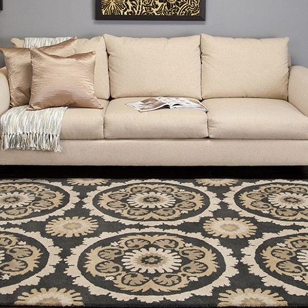 Hand-tufted Faversham New Zealand Wool Area Rug - 8' x 11'