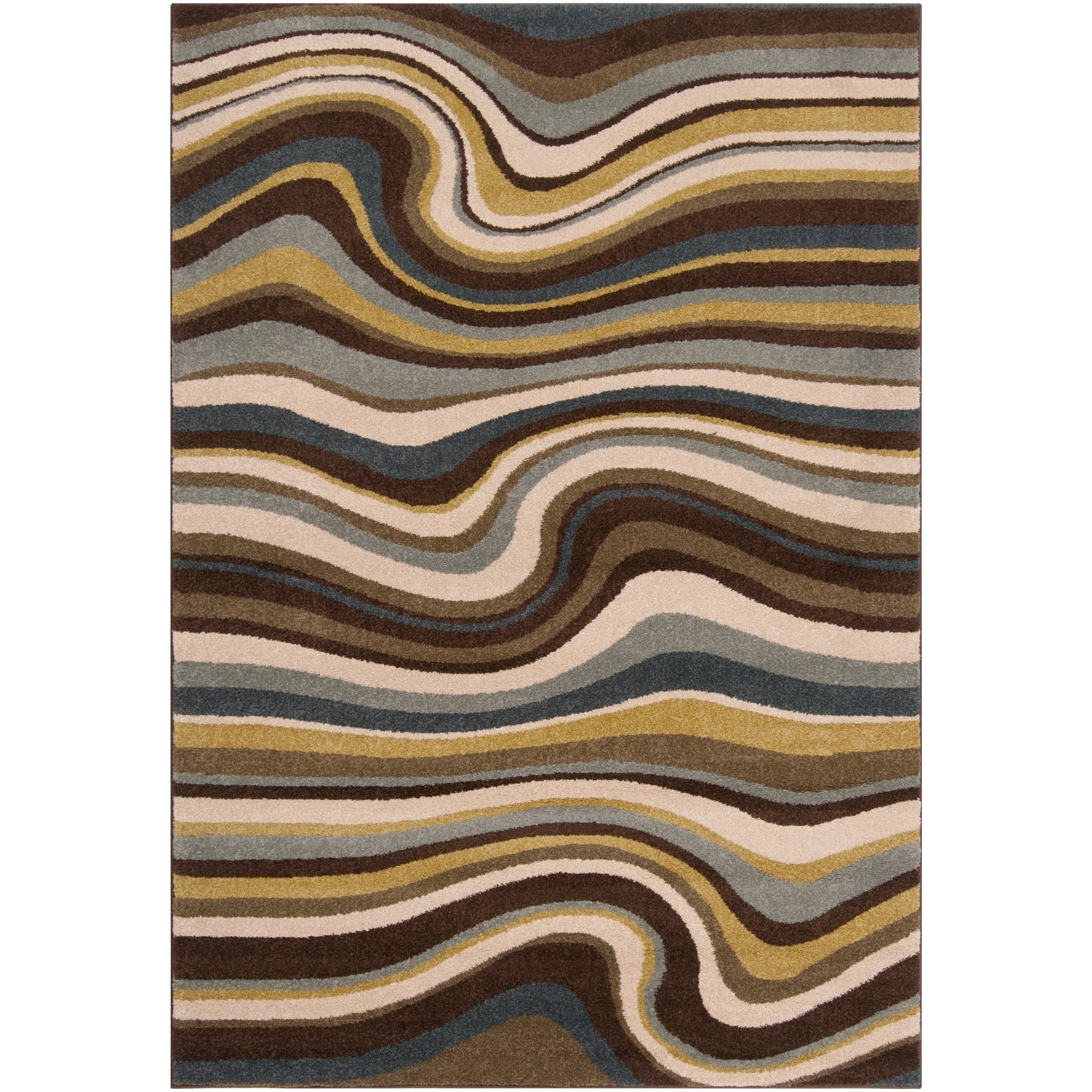 Meticulously Woven Contemporary Multi Colored Stripe Filey Abstract Rug (7'10 x 10')
