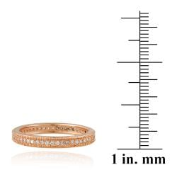 Icz Stonez Rose Goldplated Stackable Cubic Zirconia Eternity Ring - Thumbnail 2