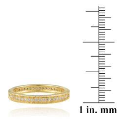 Icz Stonez 18k Yellow Goldplated Stackable Cubic Zirconia Eternity Ring - Thumbnail 2