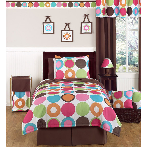 Sweet JoJo Designs 'Deco Dot' 3-Piece Full/ Queen Bedding Set