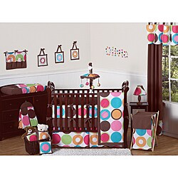 Sweet Jojo Designs Deco Dot 9-piece Crib Bedding Set