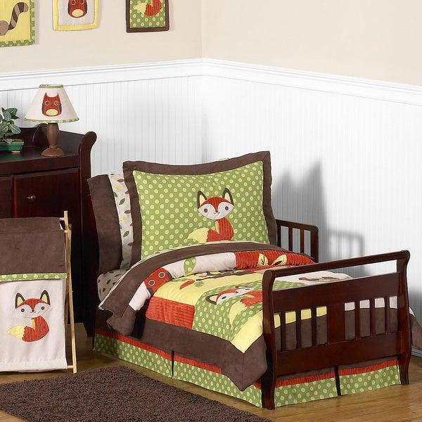 Sweet JoJo Designs 'Forest Friends' 5-piece Toddler Bedding Set