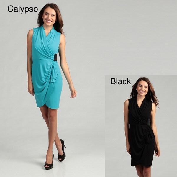 Calvin Klein Women's Draped Ruched Dress