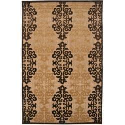Appalachian Indoor/Outdoor Damask Print Rug (7'10 x 10'8)