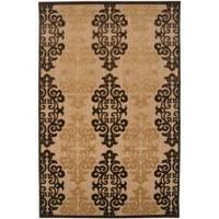 Appalachian Indoor/Outdoor Damask Print Area Rug (7'10 x 10'8) - 7'10 x 10'8