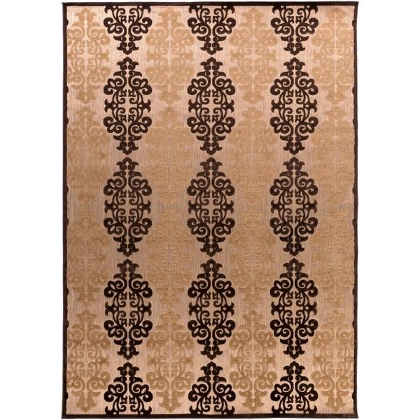 Appalachian Indoor/Outdoor Damask Print Area Rug - 7'10 x 10'8