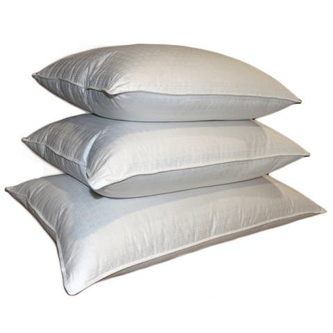 White Cotton Swiss Damask 310 Thread Count Down Blend Pillow