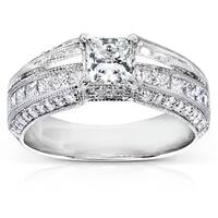 Annello by Kobelli 14k White Gold 1 3/4ct TDW Certified Diamond Engagement Ring (I, SI1)