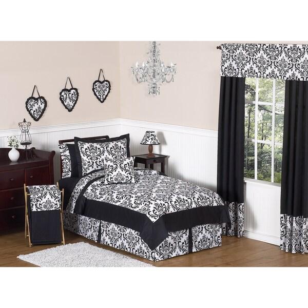 Sweet JoJo Designs 'Isabella' Black 3-Piece Full/ Queen Bedding Set