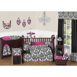 Sweet Jojo Designs Isabella Pink 9-piece Crib Bedding Set