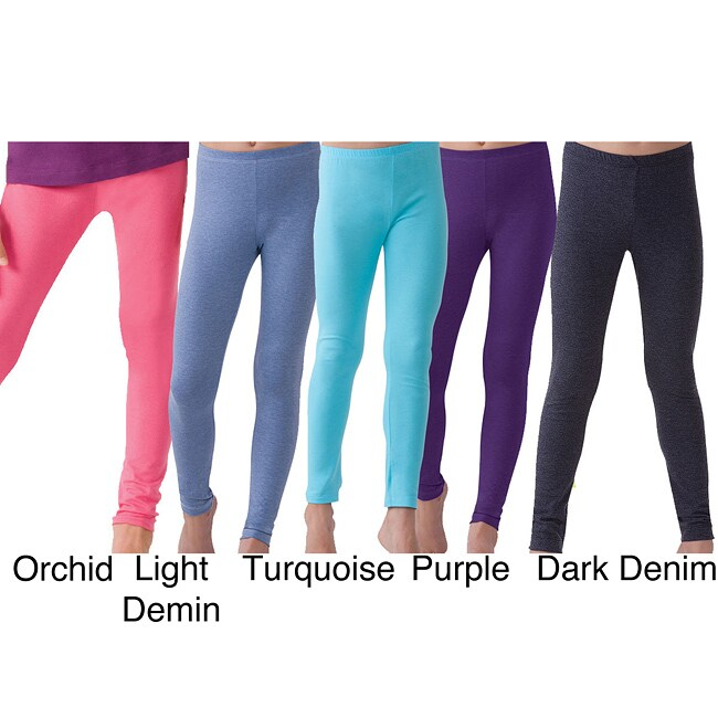 Ilusion Girl's Cotton Ankle-length Leggings