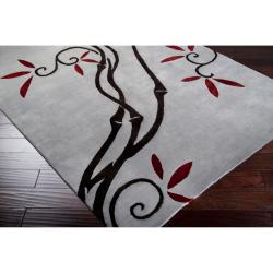 Collection Hand-knotted Chagford Floral Wool Rug (8' x 11') - Thumbnail 1
