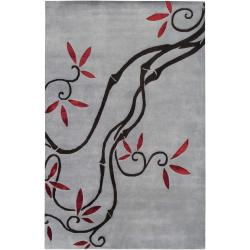 Collection Hand-knotted Chagford Floral Wool Rug (8' x 11')