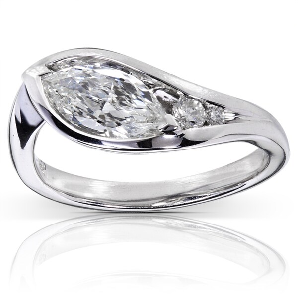 Annello by Kobelli 14k White Gold 1ct TDW Certified Diamond Engagement Ring (H-I, SI3)