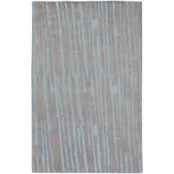 Hand-knotted Deal Abstract Plush Wool Rug (5' x 8')