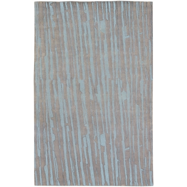 Hand-knotted Deal Abstract Plush Wool Area Rug - 5' x 8'