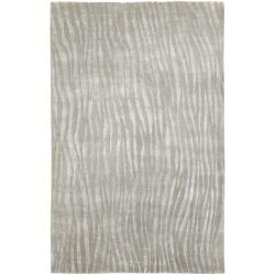 Hand-knotted Dereham Abstract Plush Wool Rug (5'X8')
