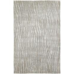 Hand-knotted Dereham Abstract Plush Wool Area Rug - 5' x 8' - Thumbnail 0